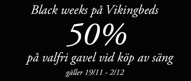 Black weeks på Vikingbeds sortiment